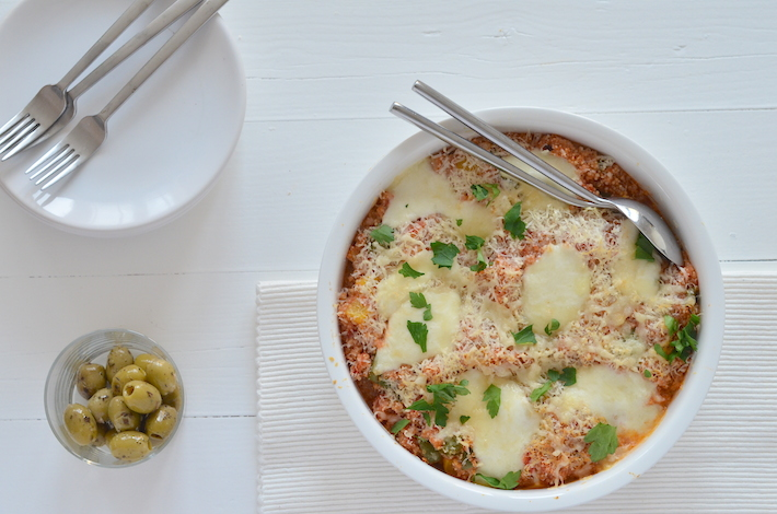 Fresh & easy italiaanse quinoa ovenschotel