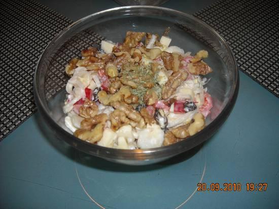 Heerlijke witlofsalade met appel, walnoten en rozijnen recept ...