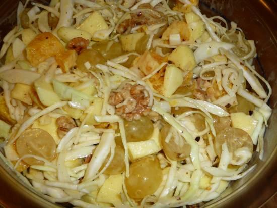 Frisse fruitige witte kool salade recept