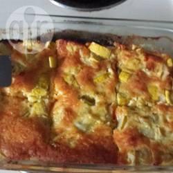 Ovenschotel met courgette, ei, en kaas recept