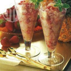 Ananas-aardbeienmix recept