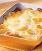 Aardappelgratin van krieltjes en boursin recept