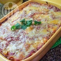 Pasta met 3 kazen uit de oven recept