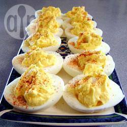 Eenvoudige gevulde eieren recept