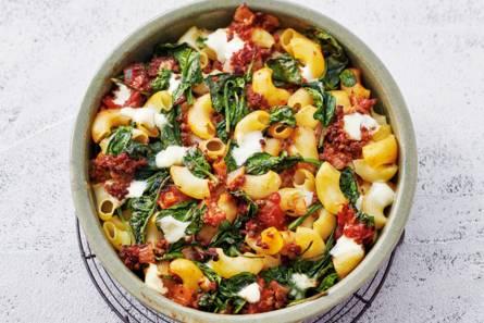 Ovenpasta gehakt-spinazie