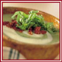 Courgettesoep met gedroogde tomaat recept