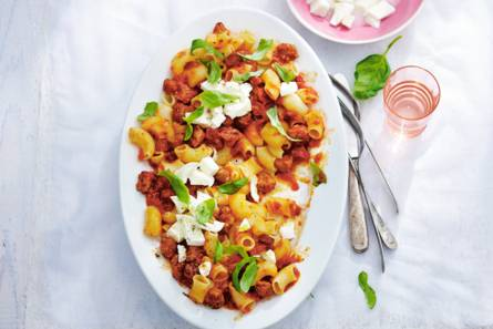 Braadworst-macaroni