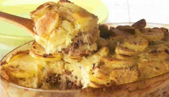 Zuurkoolschotel met ananas en gehakt recept
