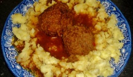 Gehaktbal met bruine saus 1 recept