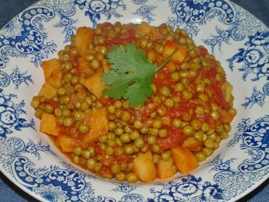 Indiase kerrie doperwten recept