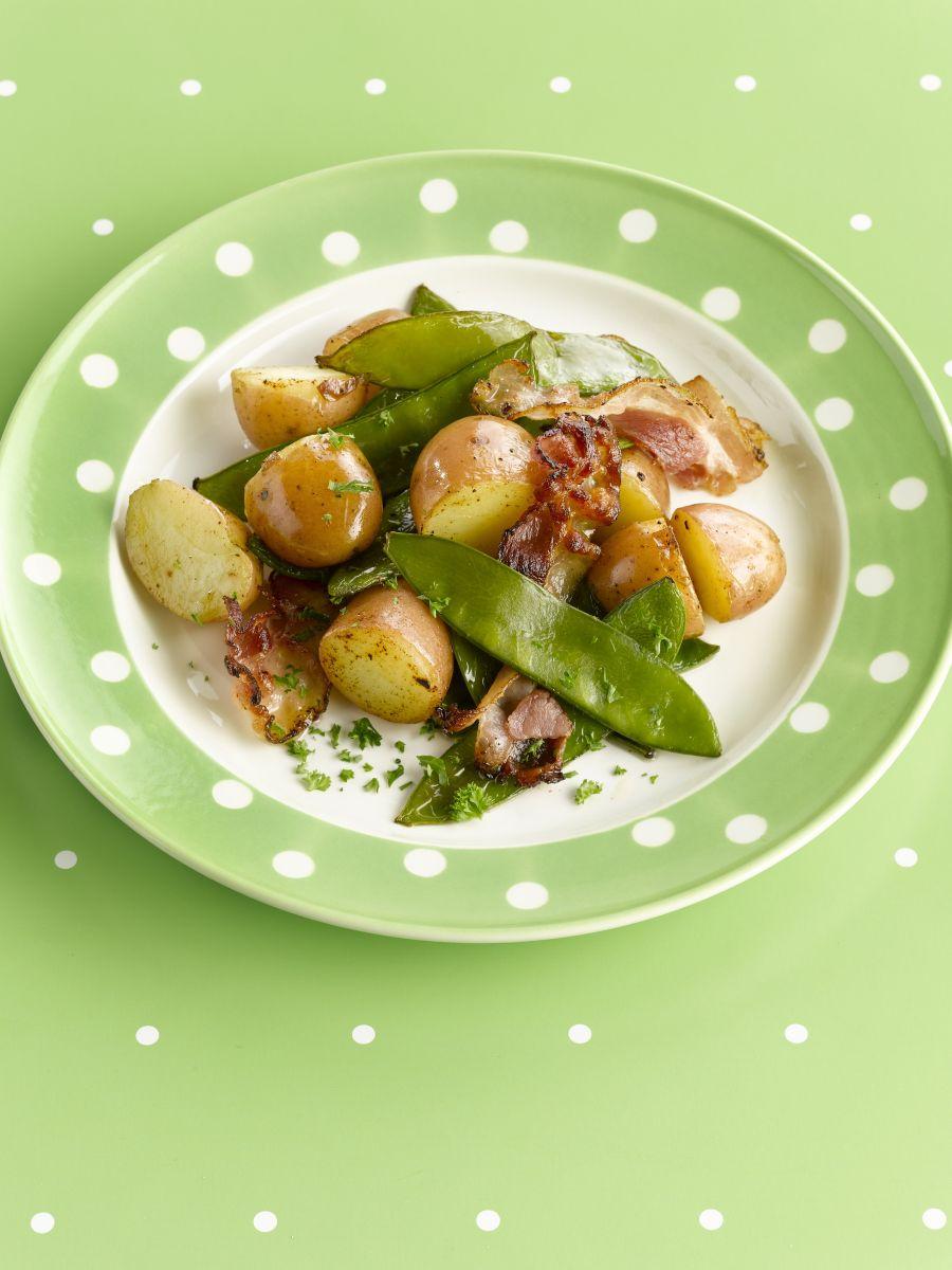 Recept 'jonge aardappel en peultjeswok'