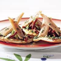 Pitatoastje met paling recept