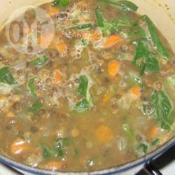 Herfstige linzensoep recept