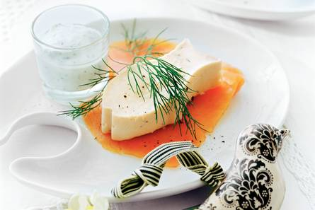 Zalmmousse met mierikswortel