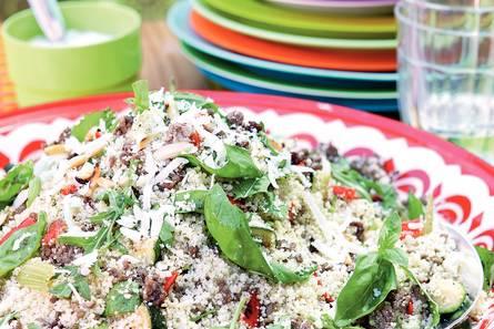 Couscoussalade met geroosterde groenten