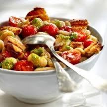 Salade van reuzebonen en tomaat recept