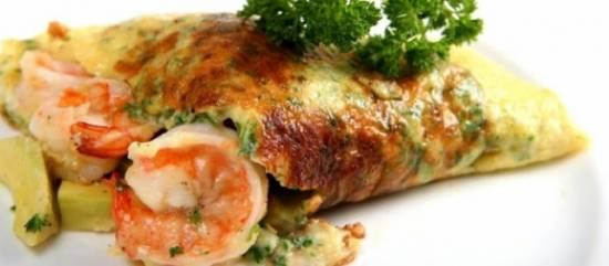 Garnalen omelet recept