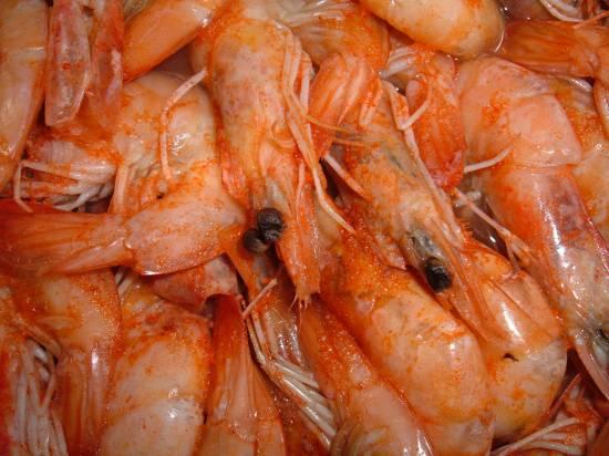 Edward`s spicy shrimps recept