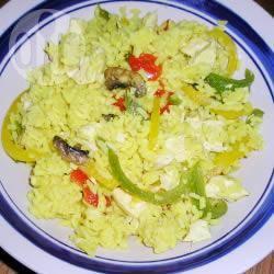 Paprika pilafrijst met kip recept