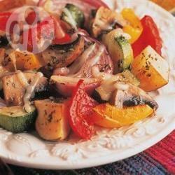 In honing geroosterde groenten recept
