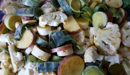 Ovenschotel met bloemkool, prei en kabeljauw recept