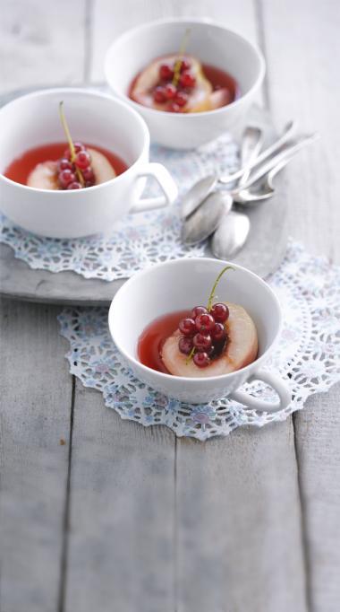 Recept 'hoogzomersoepje met nectarines & rode bessen'