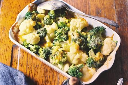 Broccoli-bloemkoolgratin