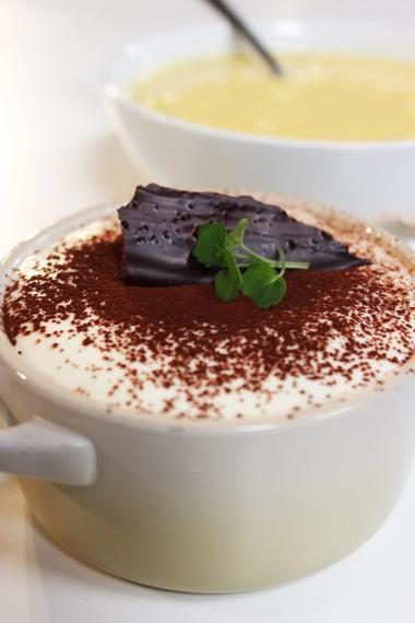 Recept 'tiramisu met witte chocolade'