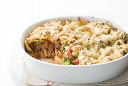 Macaronischoteltje uit de oven