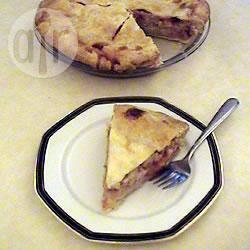 Aardbeien en rabarber custard taart recept