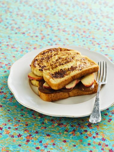 Recept 'verloren brood met appeltjes en speculaas'
