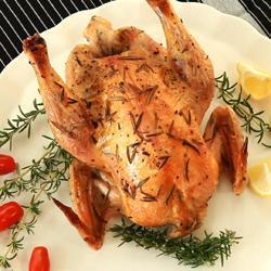 Gebraden kip met rozemarijn en citroen recept