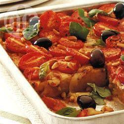 Polenta met tomaatjes en mozzarella recept