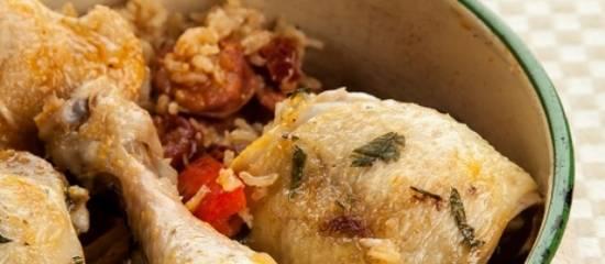 Spaanse kip met chorizo recept