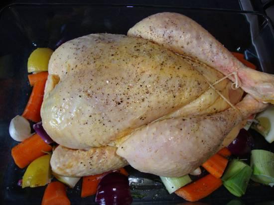 Gegrilde kip met geroosterde groenten uit de oven recept ...