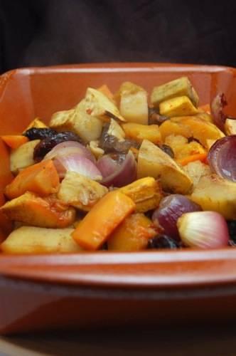 Marokkaanse geroosterde groenteschotel recept
