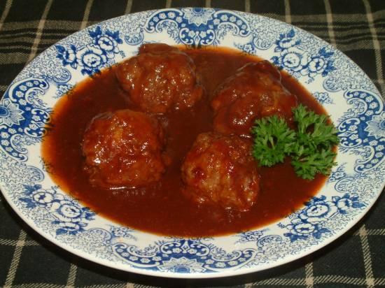 Geurige specerijen gehaktballen met zoetzure saus recept ...