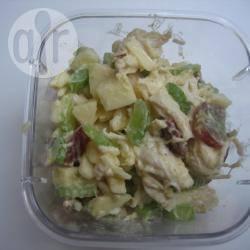 Zelfgemaakte kip kerrie salade recept