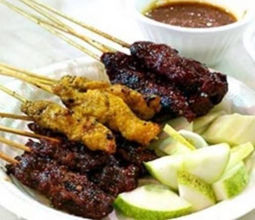 Varkenshaas saté singapore-style met saus recept