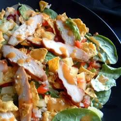 Kip salade geïnspireerd op het caribisch gebied recept