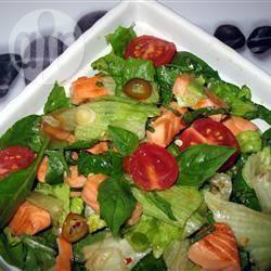 Zalmsalade met thaise saus recept