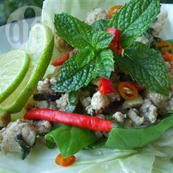 Larb (vleessalade uit laos) recept
