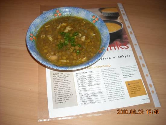 Spicy oosterse linzensoep met kipfilet (slank recept)