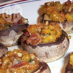 Champignons met bacon-cheddar vulling recept