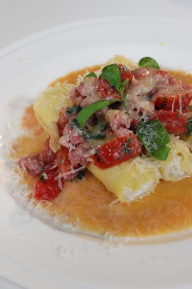 Recept 'cannelloni met ricotta en salciccia'