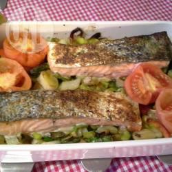 Ovenschotel met groenten en zalm recept