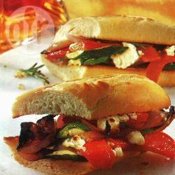 Geroosterde-groentebaguettes recept