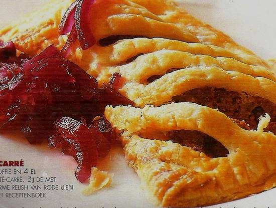 Paté carrés met frambozenrelish recept