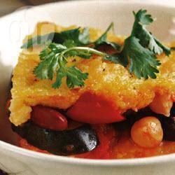 Polenta met courgette, tomaten en vier soorten bonen recept ...