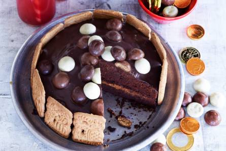 Chocoladetaart met pepernoten